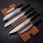 Sternsteiger 7pcs damascus knife set japanese damascus steel VG-10 - SPITZEN-STERN GOLD SERIES