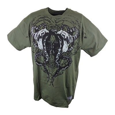 Randy Orton Double Viper WWE Mens Olive GreenT-shirt