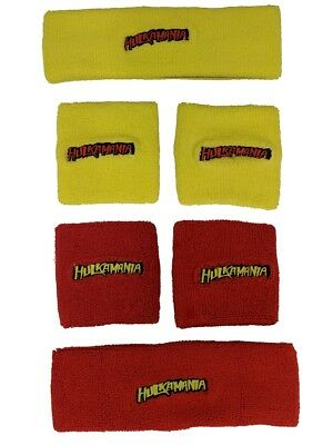 Hulk Hogan Hulkamania 3 pc Headband Wristband Set
