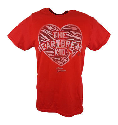 Shawn Michaels The Heartbreak Kid WWE Mens Red T-shirt