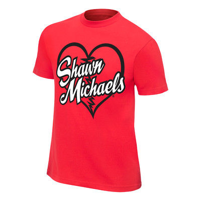 Shawn Michaels Heartbreak Kid HBK Mens Red T-shirt