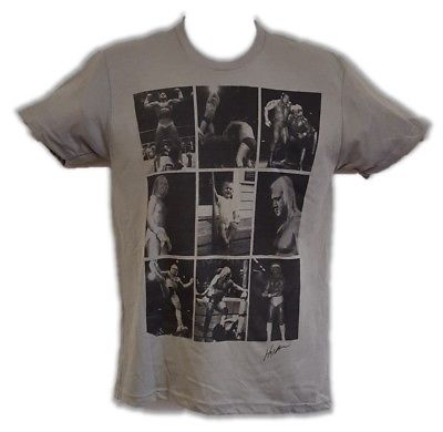 Hulk Hogan Photo Collage Gray Triblend T-shirt