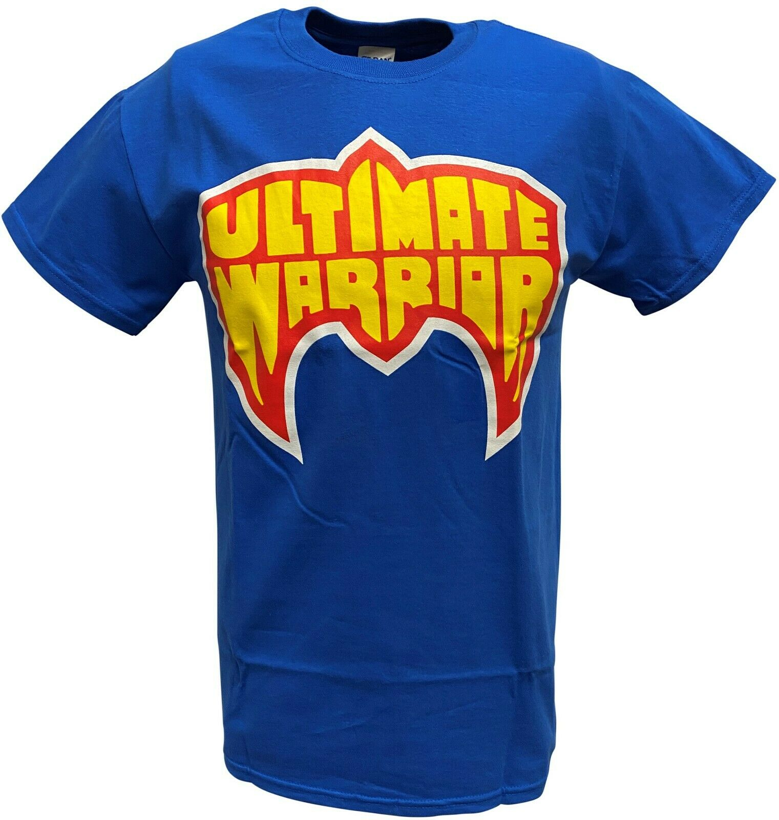 Ultimate Warrior Logo WWE Mens Navy Blue T-shirt