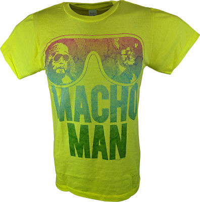 Macho Man Randy Savage Shield Your Eyes Mens Neon Yellow T-shirt