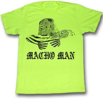 Macho Man Randy Savage Hat Sunglasses Green Mens T-shirt