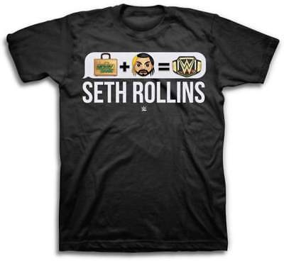 Seth Rollins Money In The Bank Emoji WWE Mens Black T-shirt