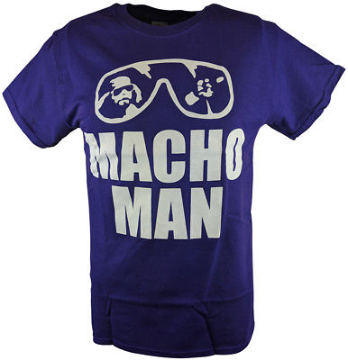 Macho Man Randy Savage Purple Sunglasses T-shirt