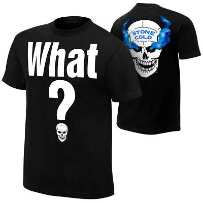 Stone Cold Steve Austin What? Smoking Skull Mens T-shirt