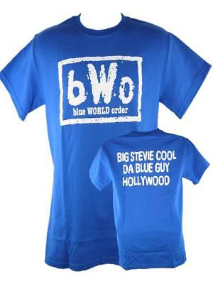 Blue World Order bWo Blue Meanie Big Stevie Cool ECW Mens T-shirt