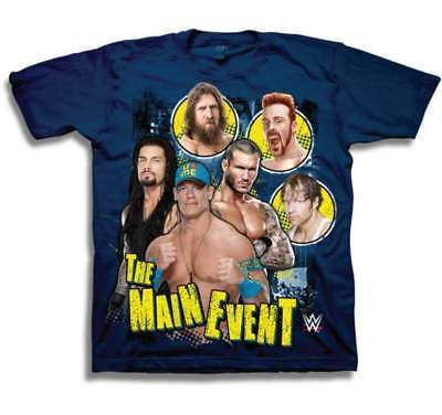 John Cena Roman Reigns Sheamus Blue Kids WWE T-shirt Boys