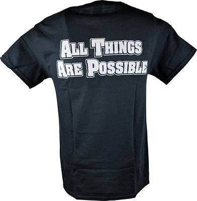 Shawn Michaels All Things Are Possible HBK Cross Mens Black T-shirt