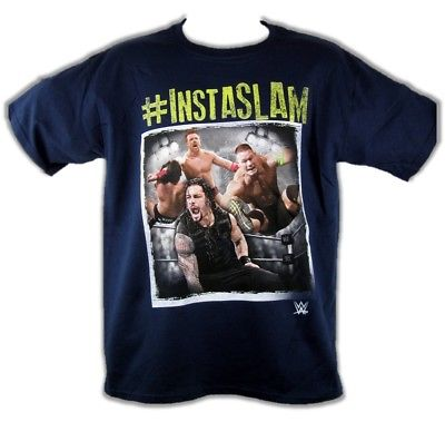 Instaslam John Cena Roman Reigns Sheamus WWE Boys Kids T-shirt