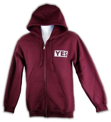 Daniel Bryan Yes Mens Red Zipper Hoody Sweatshirt