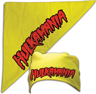 Hulk Hogan Hulkamania Yellow Bandana FREE SHIPPING New