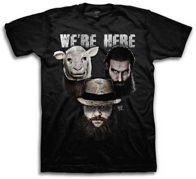 Wyatt Family We're Here Bray Luke Harper Erick Rowan WWE Mens T-shirt