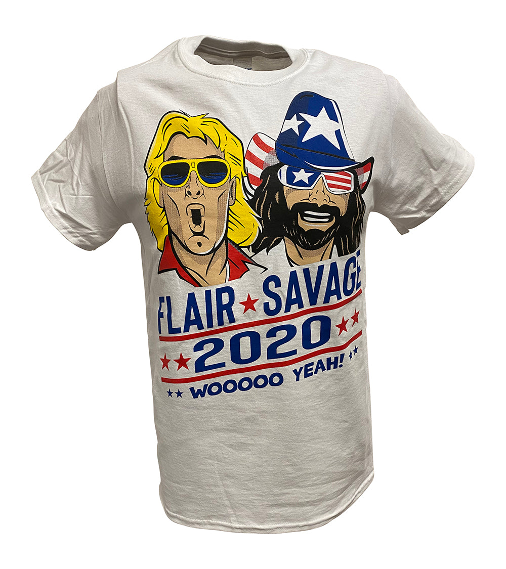 Vote Election 2020 Macho Man Randy Savage Ric Flair Woooo Yeah Mens T-shirt