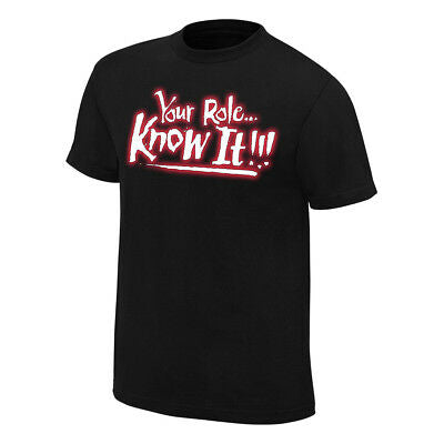 The Rock Your Role Know It Shut Your Mouth WWE Mens T-shirt