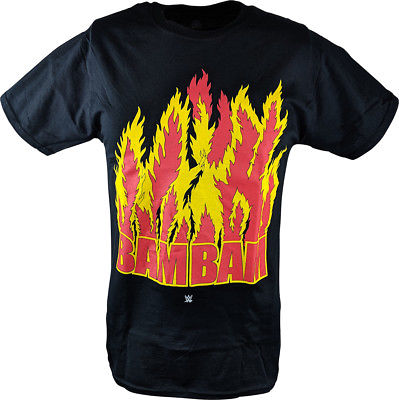 Bam Bam Bigelow Flames WWE Mens Legends T-shirt