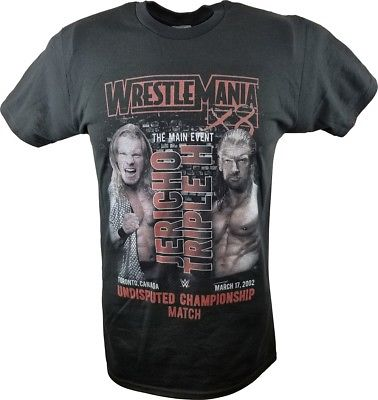 WrestleMania 18 X8 WWE Triple H vs Jericho Undisputed Championship Match T-shirt