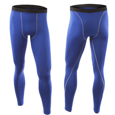 Mens Blue Compression Tights for Wrestling Costume