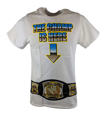John Cena The Champ Is Here Title Belt Mens White T-shirt