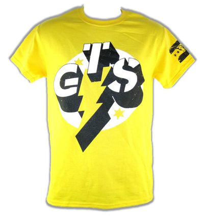 CM Punk GTS Go To Sleep Yellow Short Sleeve Mens T-shirt