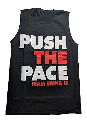 The Rock Push the Pace Sleeveless Muscle Mens Black T-shirt