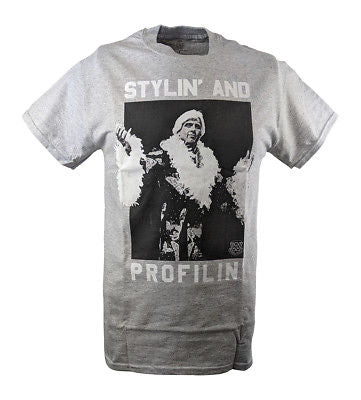 Ric Flair Stylin and Profilin WWE Mens Grey T-shirt