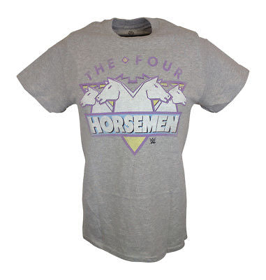 The Four Horsemen WCW Mens Gray T-shirt