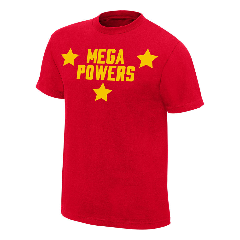 Hulk Hogan Randy Savage Mega Powers Mens Red T-shirt
