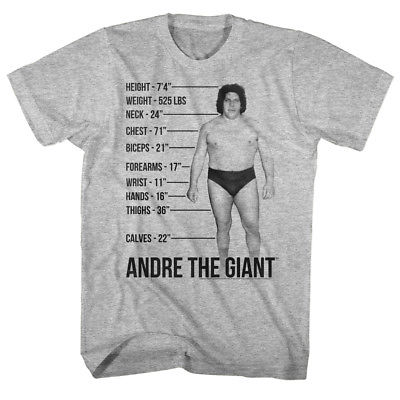 Andre the Giant Mens T-shirt Tale of the Tape WWE