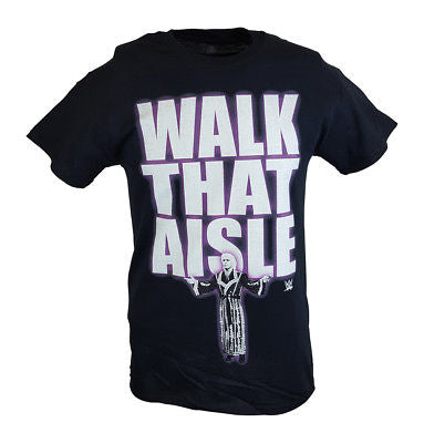 Ric Flair Walk That Aisle Woooo WWE Mens Black T-shirt