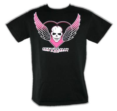 The Hitman Bret Hart Skull Wings Logo Mens T-shirt