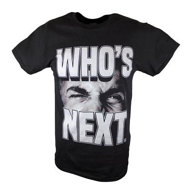 Bill Goldberg Who's Next Big Logo WWE Mens T-shirt