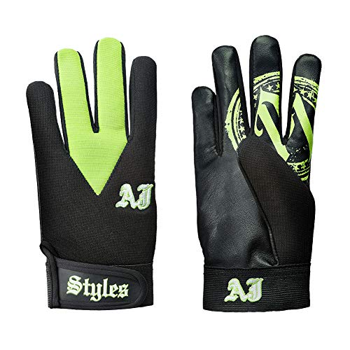 AJ Styles P1 Logo Pro Wrestling Fight Gloves Green