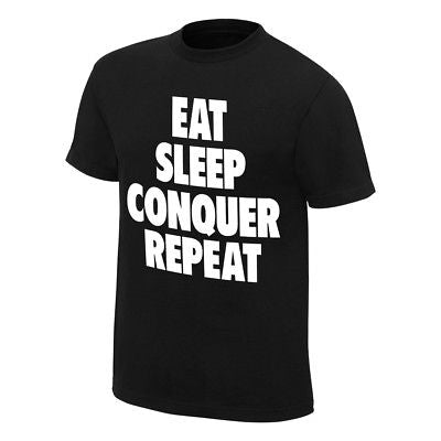 Brock Lesnar Eat Sleep Conquer Repeat Mens Black T-shirt