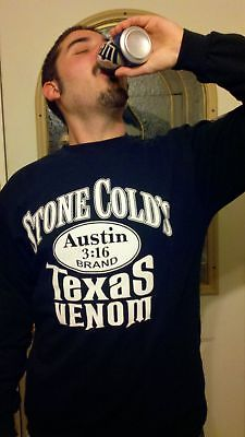 Stone Cold Steve Austin Long Sleeve Texas Venom 101 Proof Mens T-shirt
