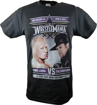 WrestleMania 30 XXX WWE Brock Lesnar vs Undertaker Match Mens T-shirt
