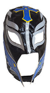 Lucha Libre Mask Adult Size Black Blue and Yellow Pro Wrestling
