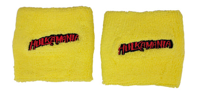 Hulk Hogan HULKAMANIA Red or Yellow Wristbands Set