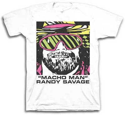Macho Man Randy Savage Cartoon Mens White T-shirt