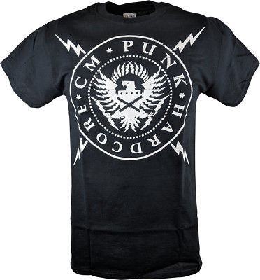 CM PUNK Seal of Hardcore Mens Black T-shirt