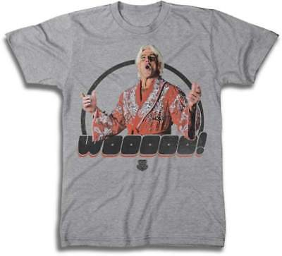 Ric Flair Wooooo WWE Mens Gray T-shirt