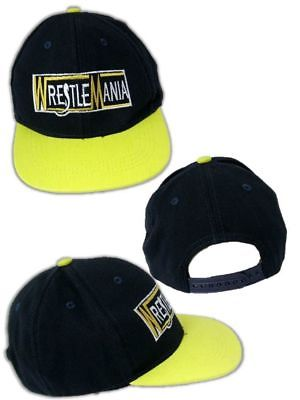 Wrestlemania Logo Baseball Cap Hat New