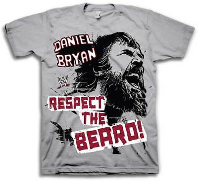 Daniel Bryan Yelling Respect the Beard WWE Mens T-shirt
