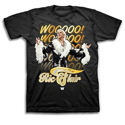 Ric Flair 16x Wooooo WWE Mens Black T-shirt
