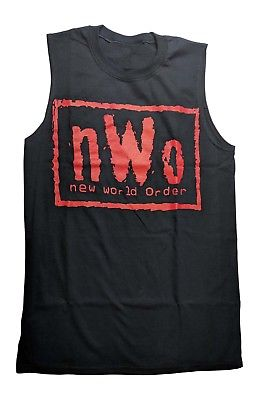 nWo New World Order Red Logo Muscle Sleeveless T-shirt New