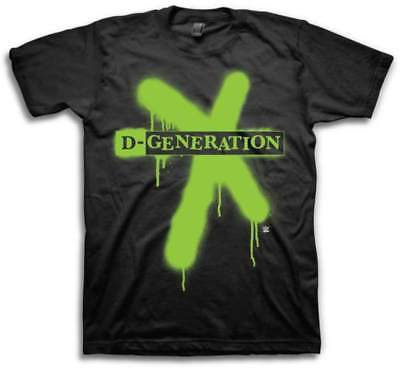 DX D-Generation X Splatter Logo WWE Mens T-shirt