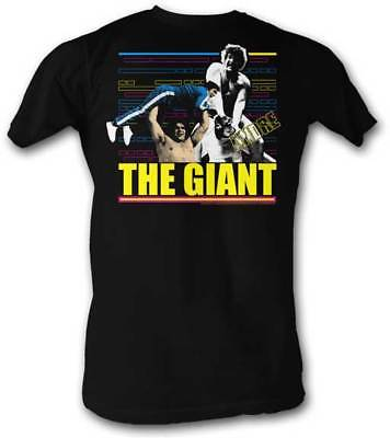 Andre the Giant Retro Faces Lightweight Black T-shirt New