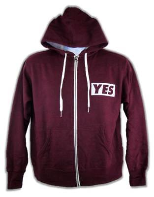 Daniel Bryan YES Maroon Red Authentic WWE Full-Zip Hoody Sweatshirt